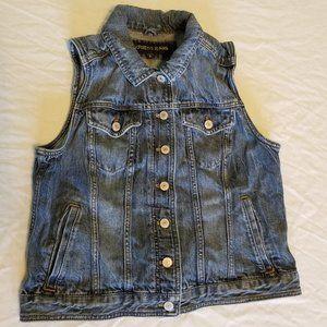 Express Denim Jean Vest Size Large